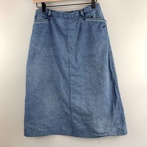 Talbots modest jean skirt with pockets size 14